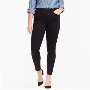 J.Crew High-rise Toothpick Jean in True Black